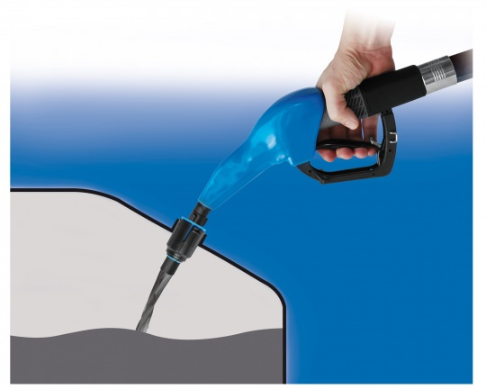 AdBlue Nozzle with Miss-filling Device