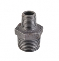 Black Iron Hex Reducing Nipple Pipe Fitting
