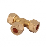 Equal Tee C x C x C Brass Compression Fittings