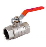 Fullway Lever Ball Valve - Red Handle