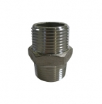 Enlarge Stainless Steel Hex Equal Nipple Fitting