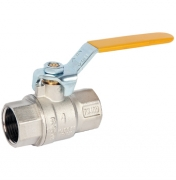 Yellow Handle Lever Ball Valve
