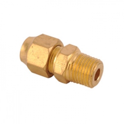 Brass Flare Straight x M Oil Line Fittings