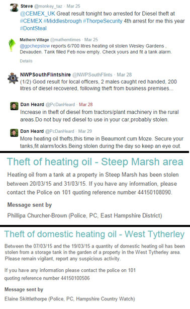 Fuel Theft Round Up