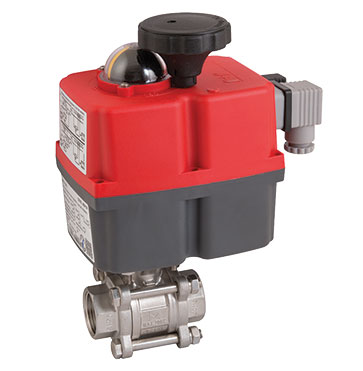 Brass Ball Valve c/w Actuator