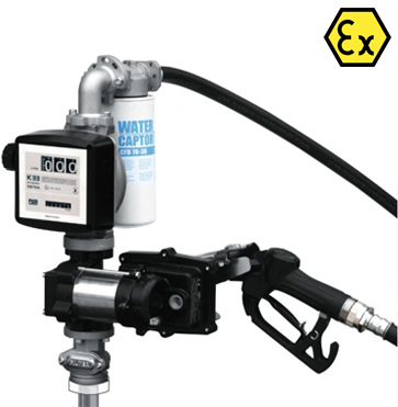 Piusi EX50 ATEX 12v Fuel Transfer Pump Kit