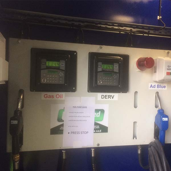 Piusi MC Box Fuel Management System Installed on AdBlue and Gas Oil Tank