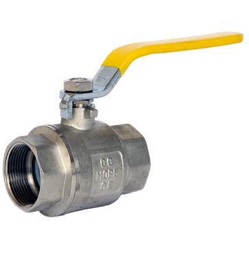 Yellow Handle Brass Lever Ball Valve